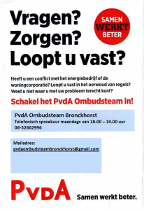 Flyer PvdA ombudsteam